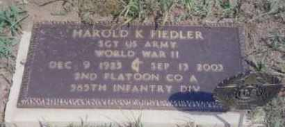 FIEDLER, HAROLD K. - Clay County, South Dakota | HAROLD K. FIEDLER - South Dakota Gravestone Photos