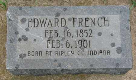 FRENCH, EDWARD - Clay County, South Dakota | EDWARD FRENCH - South Dakota Gravestone Photos