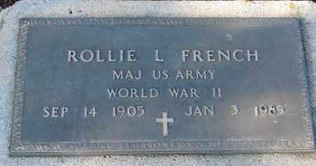 FRENCH, ROLLIE L. - Clay County, South Dakota | ROLLIE L. FRENCH - South Dakota Gravestone Photos