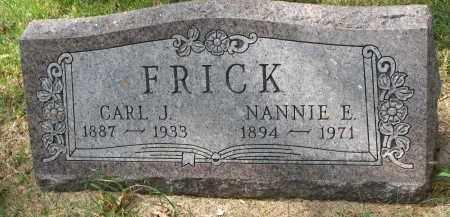 FRICK, NANNIE E. - Clay County, South Dakota | NANNIE E. FRICK - South Dakota Gravestone Photos