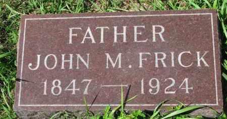 FRICK, JOHN M. - Clay County, South Dakota | JOHN M. FRICK - South Dakota Gravestone Photos