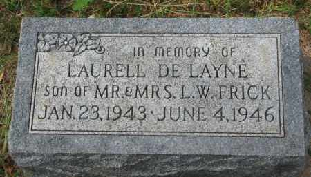 FRICK, LAURELL DE LAYNE - Clay County, South Dakota | LAURELL DE LAYNE FRICK - South Dakota Gravestone Photos
