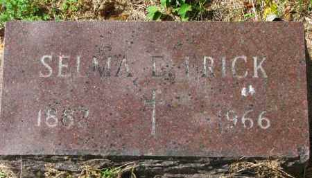 FRICK, SELMA E. - Clay County, South Dakota   SELMA E. FRICK - South Dakota Gravestone Photos