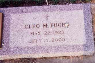 FUCHS, CLEO M. - Clay County, South Dakota   CLEO M. FUCHS - South Dakota Gravestone Photos