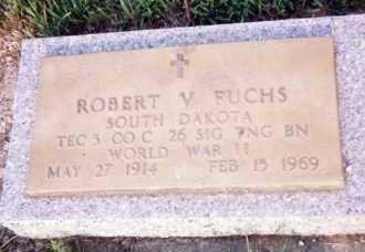 FUCHS, ROBERT V. - Clay County, South Dakota | ROBERT V. FUCHS - South Dakota Gravestone Photos