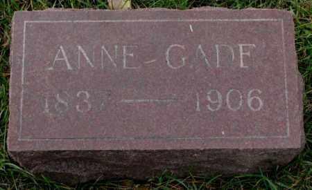 GADE, ANNE - Clay County, South Dakota | ANNE GADE - South Dakota Gravestone Photos