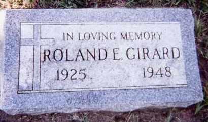 GIRARD, ROLAND E. - Clay County, South Dakota   ROLAND E. GIRARD - South Dakota Gravestone Photos