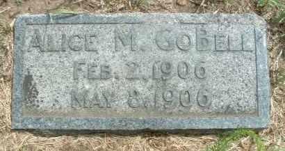 GOBELL, ALICE M. - Clay County, South Dakota | ALICE M. GOBELL - South Dakota Gravestone Photos