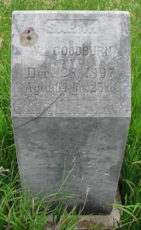 GOODBURN, SARAH - Clay County, South Dakota | SARAH GOODBURN - South Dakota Gravestone Photos