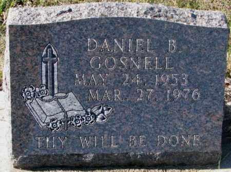 GOSNELL, DANIEL B. - Clay County, South Dakota | DANIEL B. GOSNELL - South Dakota Gravestone Photos