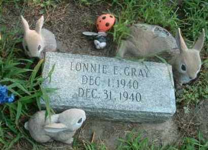 GRAY, LONNIE E. - Clay County, South Dakota | LONNIE E. GRAY - South Dakota Gravestone Photos