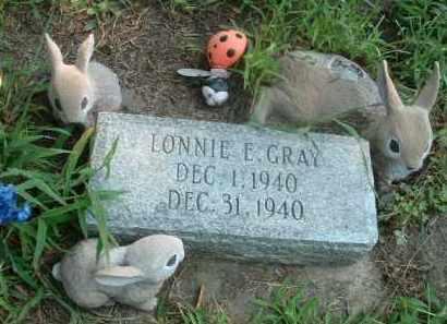 GRAY, LONNIE E. - Clay County, South Dakota | LONNIE E. GRAY - South Dakota Gravestone Photos