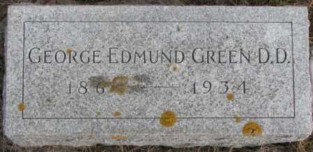 GREEN, GEORGE EDMUND - Clay County, South Dakota | GEORGE EDMUND GREEN - South Dakota Gravestone Photos
