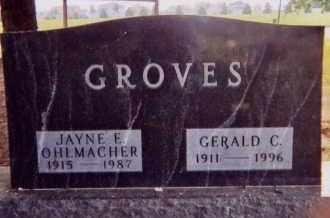 GROVES, JAYNE E. - Clay County, South Dakota | JAYNE E. GROVES - South Dakota Gravestone Photos