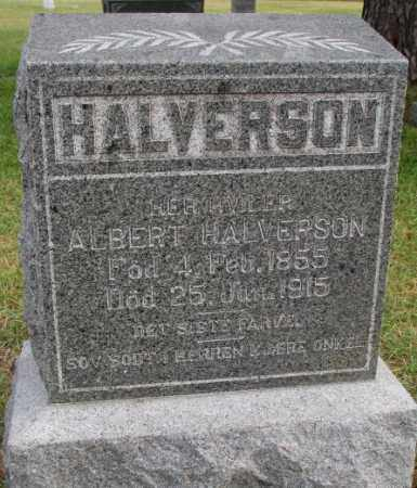 HALVERSON, ALBERT - Clay County, South Dakota | ALBERT HALVERSON - South Dakota Gravestone Photos
