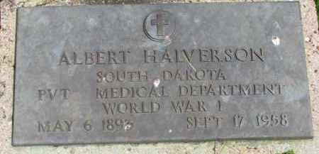 HALVERSON, ALBERT (WW I) - Clay County, South Dakota   ALBERT (WW I) HALVERSON - South Dakota Gravestone Photos
