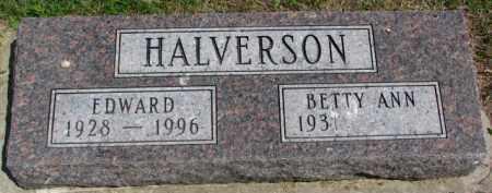 HALVERSON, EDWARD - Clay County, South Dakota | EDWARD HALVERSON - South Dakota Gravestone Photos