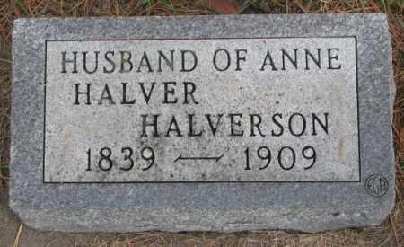 HALVERSON, HALVER - Clay County, South Dakota   HALVER HALVERSON - South Dakota Gravestone Photos