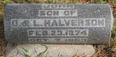 HALVERSON, JOHN - Clay County, South Dakota | JOHN HALVERSON - South Dakota Gravestone Photos