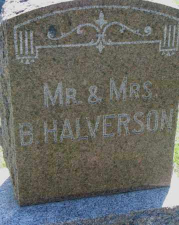 HALVERSON, MR. & MRS. B. - Clay County, South Dakota | MR. & MRS. B. HALVERSON - South Dakota Gravestone Photos