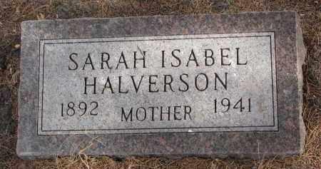 HALVERSON, SARAH ISABEL - Clay County, South Dakota | SARAH ISABEL HALVERSON - South Dakota Gravestone Photos