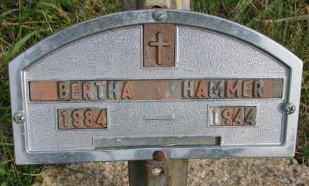 HAMMER, BERTHA - Clay County, South Dakota   BERTHA HAMMER - South Dakota Gravestone Photos