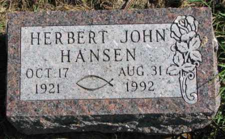 HANSEN, HERBERT JOHN - Clay County, South Dakota | HERBERT JOHN HANSEN - South Dakota Gravestone Photos