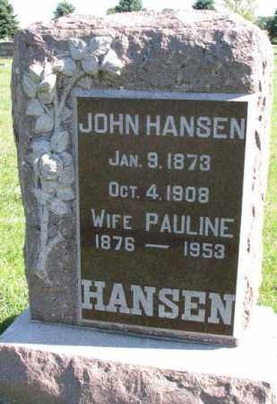 HANSEN, JOHN - Clay County, South Dakota | JOHN HANSEN - South Dakota Gravestone Photos