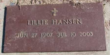 HANSEN, LILLIE - Clay County, South Dakota   LILLIE HANSEN - South Dakota Gravestone Photos