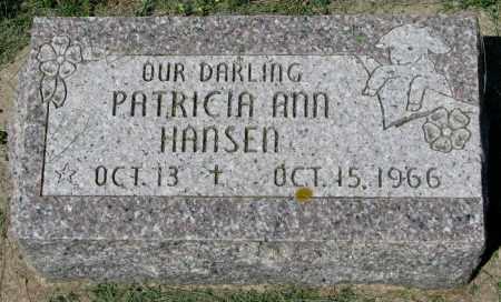 HANSEN, PATRICIA ANN - Clay County, South Dakota   PATRICIA ANN HANSEN - South Dakota Gravestone Photos