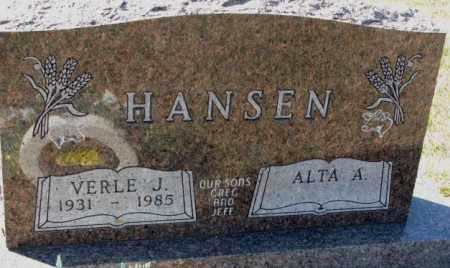 HANSEN, VERLE J. - Clay County, South Dakota | VERLE J. HANSEN - South Dakota Gravestone Photos
