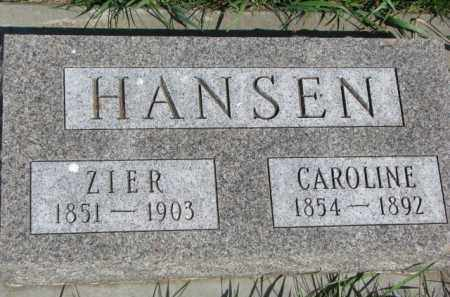 HANSEN, ZIER - Clay County, South Dakota | ZIER HANSEN - South Dakota Gravestone Photos
