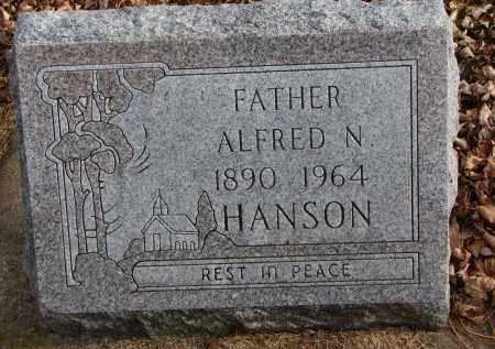 HANSON, ALFRED N. - Clay County, South Dakota   ALFRED N. HANSON - South Dakota Gravestone Photos