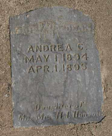 HANSON, ANDREA C. - Clay County, South Dakota | ANDREA C. HANSON - South Dakota Gravestone Photos