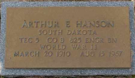 HANSON, ARTHUR E. - Clay County, South Dakota | ARTHUR E. HANSON - South Dakota Gravestone Photos