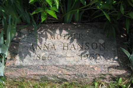 HANSON, ANNA - Clay County, South Dakota   ANNA HANSON - South Dakota Gravestone Photos