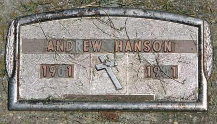 HANSON, ANDREW - Clay County, South Dakota   ANDREW HANSON - South Dakota Gravestone Photos