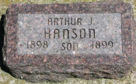 HANSON, ARTHUR J. - Clay County, South Dakota | ARTHUR J. HANSON - South Dakota Gravestone Photos