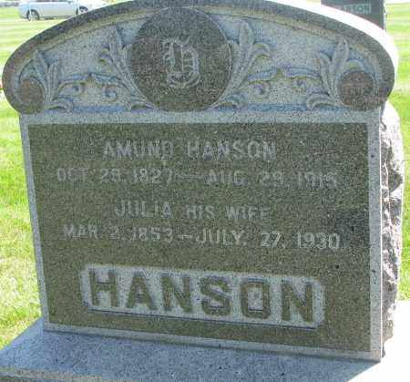 HANSON, JULIA - Clay County, South Dakota | JULIA HANSON - South Dakota Gravestone Photos