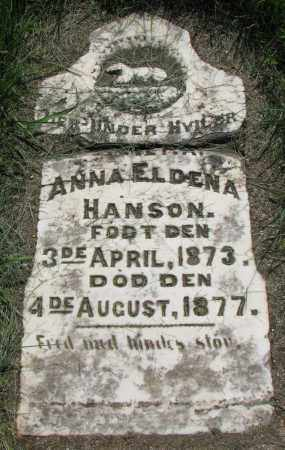 HANSON, ANNA ELDENA - Clay County, South Dakota | ANNA ELDENA HANSON - South Dakota Gravestone Photos