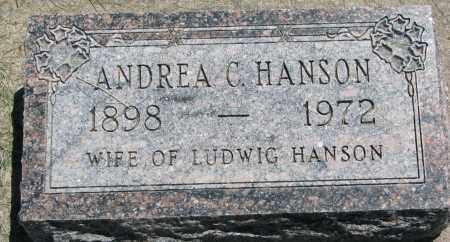 HANSON, ANDREA C. - Clay County, South Dakota | ANDREA C. HANSON - South Dakota Gravestone Photos
