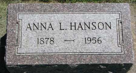HANSON, ANNA L. - Clay County, South Dakota   ANNA L. HANSON - South Dakota Gravestone Photos