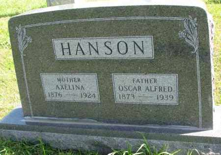 HANSON, AXELINA - Clay County, South Dakota | AXELINA HANSON - South Dakota Gravestone Photos