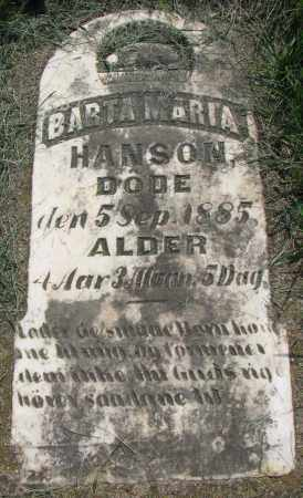 HANSON, BARTA MARIA - Clay County, South Dakota | BARTA MARIA HANSON - South Dakota Gravestone Photos