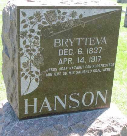 HANSON, BRYTTEVA - Clay County, South Dakota   BRYTTEVA HANSON - South Dakota Gravestone Photos