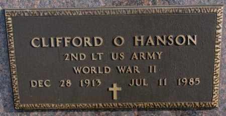 HANSON, CLIFFORD O. (WW II) - Clay County, South Dakota | CLIFFORD O. (WW II) HANSON - South Dakota Gravestone Photos