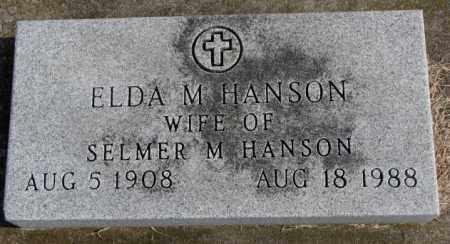 HANSON, ELDA M. - Clay County, South Dakota   ELDA M. HANSON - South Dakota Gravestone Photos