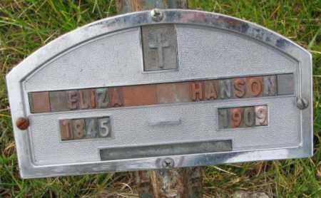 HANSON, ELIZA - Clay County, South Dakota | ELIZA HANSON - South Dakota Gravestone Photos