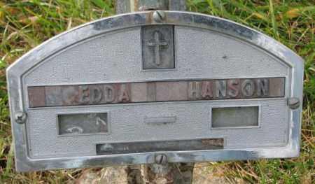 HANSON, EDDA - Clay County, South Dakota | EDDA HANSON - South Dakota Gravestone Photos