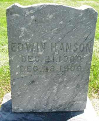HANSON, EDWIN - Clay County, South Dakota   EDWIN HANSON - South Dakota Gravestone Photos